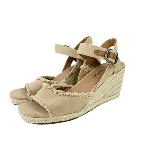 NEW Lucky Brand Mindra Wedge Sandals Ankle Strap 7